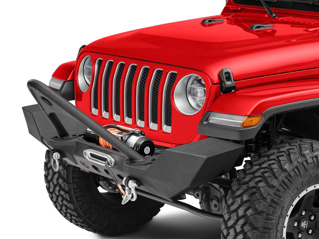 RedRock 4x4 Full Width Front Bumper w/ Stinger Bar - Winch Mount (2018 Jeep Wrangler JL)