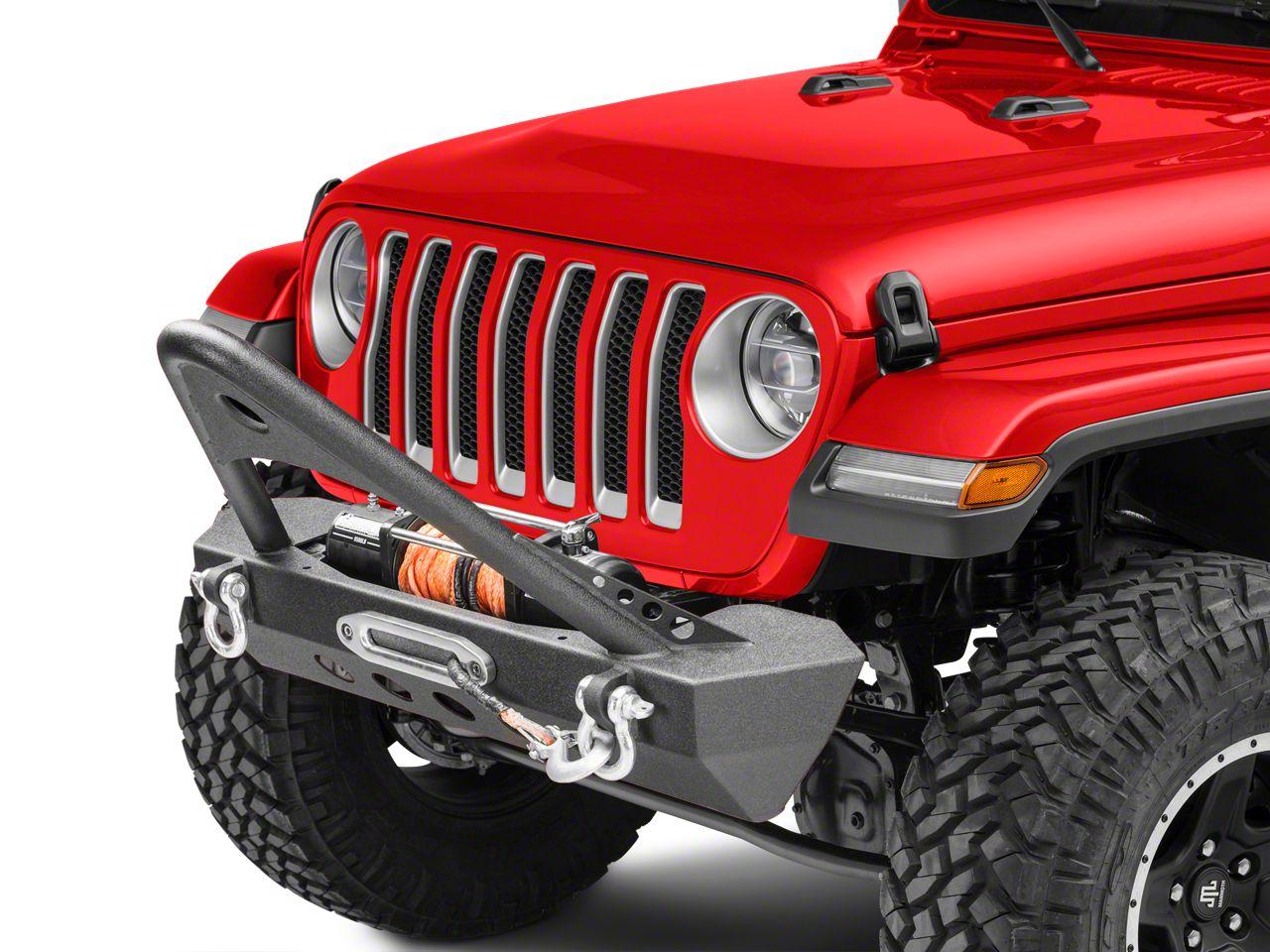 RedRock 4x4 Mid-Width Front Bumper w/ Stinger - Winch Mount (2018 Jeep Wrangler JL)