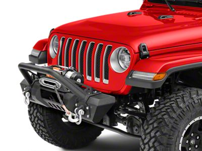 RedRock 4x4 Stubby HD Pre-Runner Front Bumper w/ Light Bar Tabs & Winch Mount (18-19 Jeep Wrangler JL)