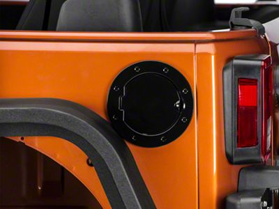 RedRock 4x4 Non-Locking Fuel Door - Black (07-18 Jeep Wrangler JK)