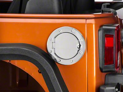 RedRock 4x4 Non-Locking Fuel Door - Stainless (07-18 Jeep Wrangler JK)