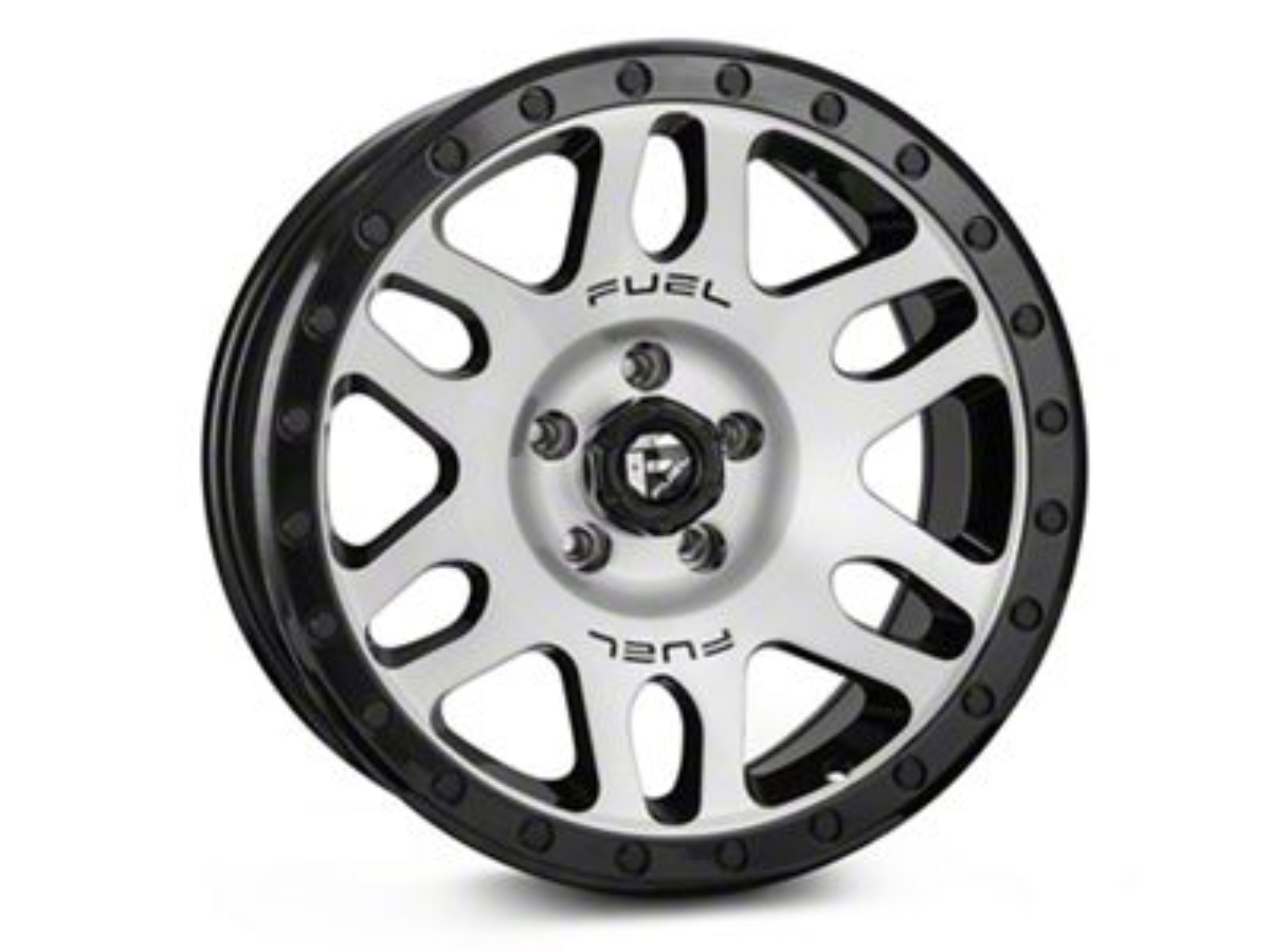Fuel Wheels RECOIL Black Machined Wheel - 17x8.5 (87-06 Jeep Wrangler YJ & TJ)