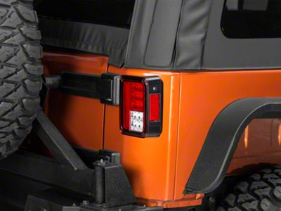 Axial LED Tail Lights - Red Clear (07-18 Jeep Wrangler JK)