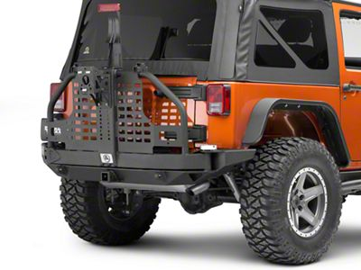 Smittybilt XRC Atlas Rear Bumper w/ Tire Carrier (07-18 Jeep Wrangler JK)