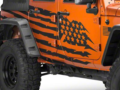 RedRock 4x4 Battle Born Graphic Package (07-18 Jeep Wrangler JK)