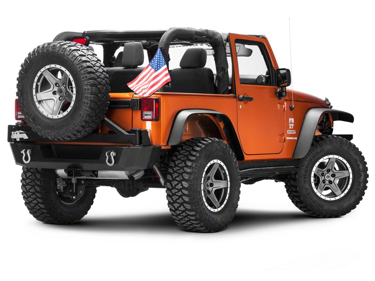 Forever Wave USA Flag (87-19 Jeep Wrangler YJ, TJ, JK & JL)