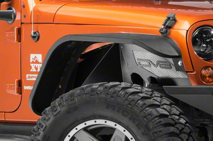 DV8 Off-Road Front Aluminum Inner Fenders - Black (07-17 Wrangler JK)