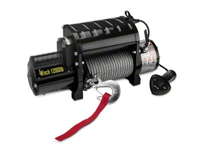 DV8 Off-Road 12,000 lb. Winch w/ Steel Cable & Wireless Remote (87-19 Jeep Wrangler YJ, TJ, JK & JL)
