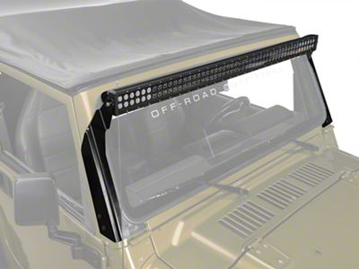 KC HiLiTES 50 in. C-Series C50 LED Light Bar w/ Overhead Mounting Brackets (97-06 Jeep Wrangler TJ)