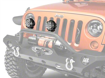 KC HiLiTES 4 in. Rally 400 Halogen Lights - Spread Beam - Pair (87-18 Jeep Wrangler YJ, TJ, JK & JL)