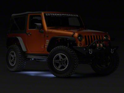 KC HiLiTES 4-Piece Cyclone LED Light Kit - Clear (07-18 Jeep Wrangler JK; 2018 Jeep Wrangler JL)