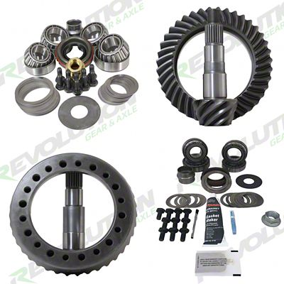 Revolution Gear & Axle Dana 30F/44R Ring Gear and Pinion Kit w/ Master Overhaul Kit - 4.56 Gears (07-18 Jeep Wrangler JK, Excluding Rubicon)