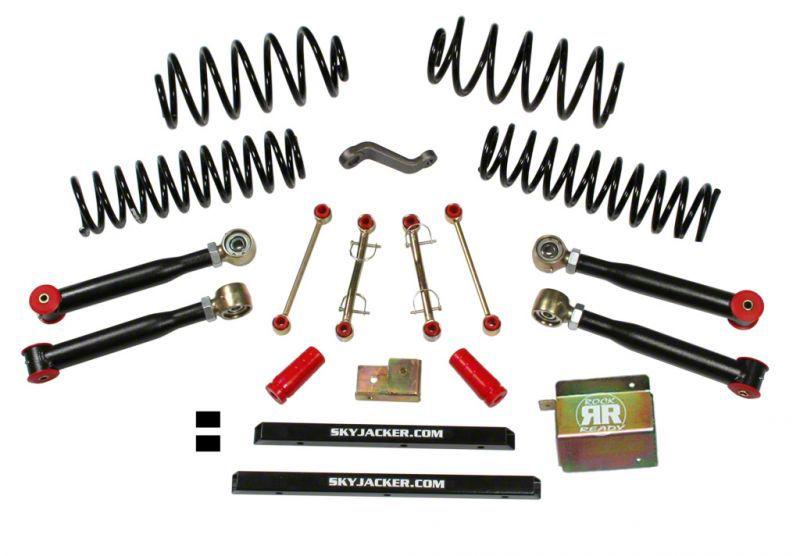 SkyJacker 4 in. Value Flex Lift Kit w/o Shocks (04-06 Jeep Wrangler TJ Unlimited)