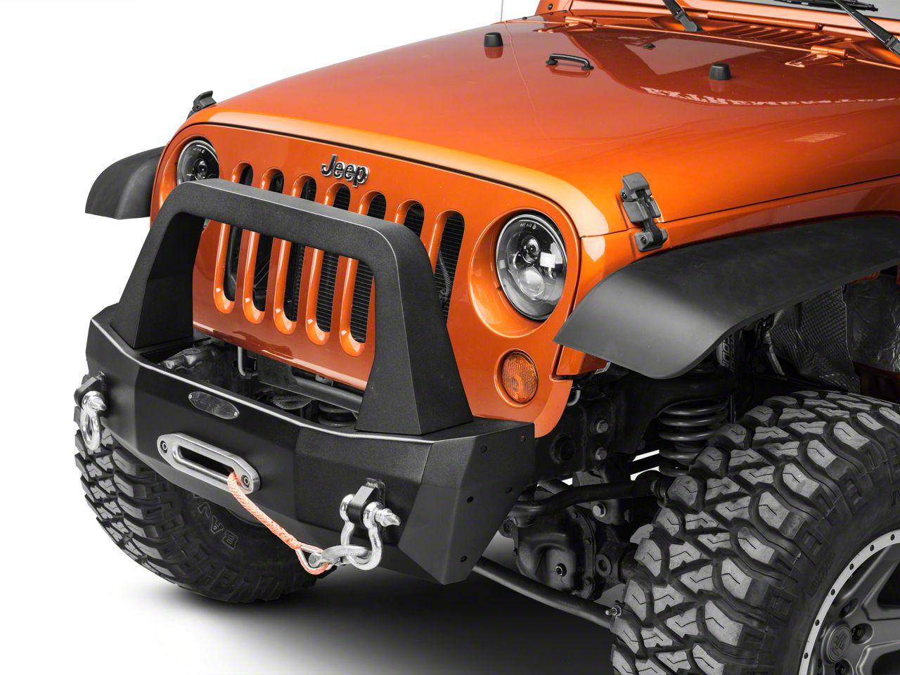 Rock-Slide Engineering Steel Rigid Shorty Front Bumper (07-18 Jeep Wrangler JK)