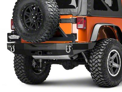 Rock-Slide Engineering Steel Rigid Rear Bumper w/o Tire Carrier (07-18 Jeep Wrangler JK)
