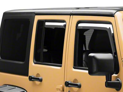 Putco Element Chrome Window Visors - Front & Rear (07-18 Jeep Wrangler JK 4 Door)