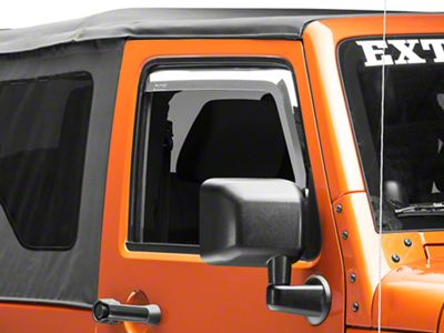 Putco Element Chrome Window Visors - Fronts Only (07-18 Jeep Wrangler JK)