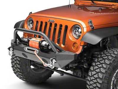 Body Armor 4x4 Mid-Stubby Winch Front Bumper (07-18 Jeep Wrangler JK)