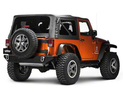 Body Armor 4x4 Rear Bumper w/ Adjustable Pin (07-18 Jeep Wrangler JK)