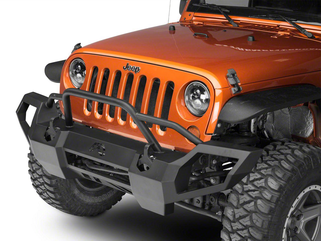 Fab Fours Vengeance Front Bumper w/ Pre-Runner Guard (07-18 Jeep Wrangler JK)