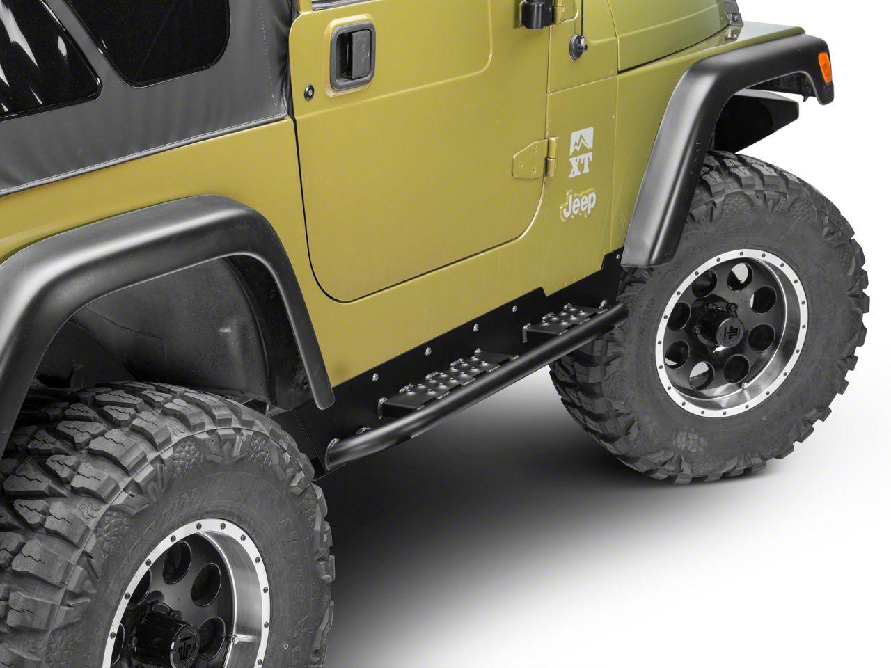 Hyline Offroad Rock Slider Set (97-06 Jeep Wrangler TJ, Excluding Unlimited)