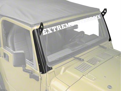 Hyline Offroad 50 in. LED Light Bar Mounting Brackets - Steel (97-06 Jeep Wrangler TJ)
