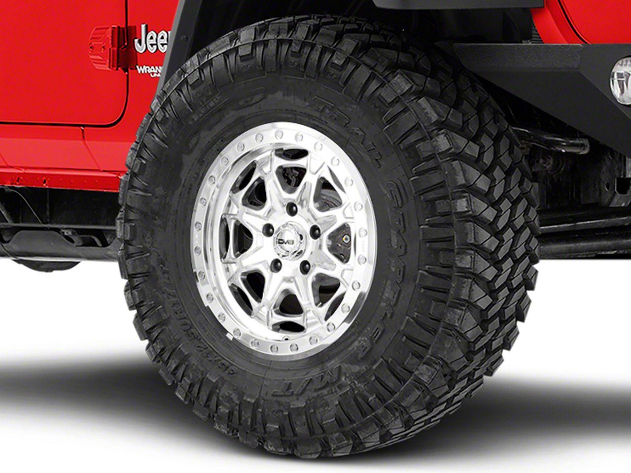 DV8 Off-Road Beadlock Polished Wheel - 17x8.5 (18-19 Jeep Wrangler JL)