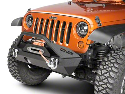 DV8 Off-Road FS-15 Hammer Forged Stubby Front Bumper w/ Fog Light Openings (07-18 Jeep Wrangler JK)