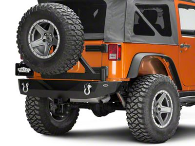 DV8 Off-Road RS-2 Single Action Rear Bumper & Tire Carrier (07-18 Jeep Wrangler JK)