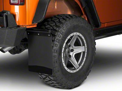 Husky Removable Pivoting Mud Flaps - Stainless Steel Weight (87-19 Jeep Wrangler YJ, TJ, JK & JL)