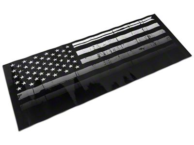 Jeepgrillz Distressed American Flag Grille Overlay Decal (07-18 Jeep Wrangler JK)