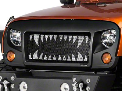 Rugged Ridge Spartan Grille w/ Land Shark Insert (07-18 Jeep Wrangler JK)