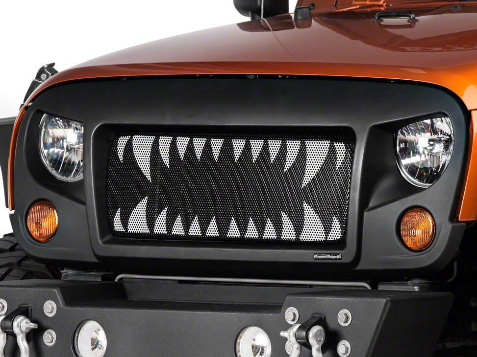 Rugged Ridge Spartan Grille w/ Land Shark Insert (07-18 Jeep Wrangler JK)