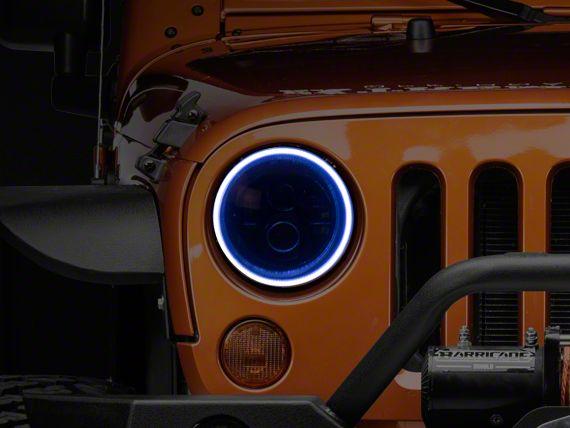Oracle LED Waterproof Headlight Halo Conversion Kit - White (07-18 Jeep Wrangler JK)