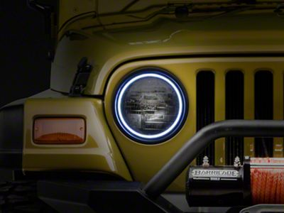 Oracle LED Waterproof Headlight Halo Conversion Kit - White (97-06 Jeep Wrangler TJ)