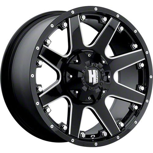 Havok Off-Road H-102 Black Machined Wheel - 17x9 (07-18 Jeep Wrangler JK)