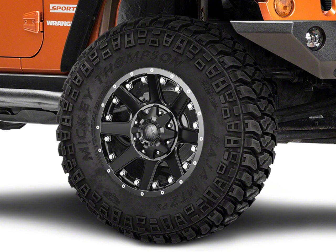Havok Off-Road H-102 Matte Black Wheel - 17x9 (07-18 Jeep Wrangler JK; 2018 Jeep Wrangler JL)