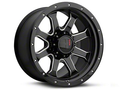 Havok Off-Road H-105 Black Machined Wheel - 18x9 (18-19 Jeep Wrangler JL)