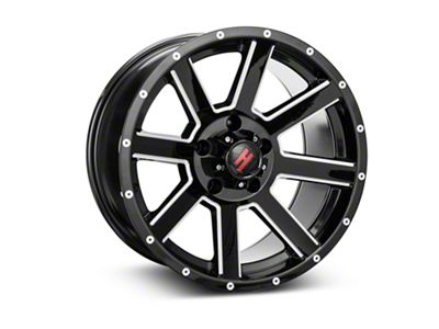 Havok Off-Road H-107 Black Machined Wheel - 17X9 (18-19 Jeep Wrangler JL)