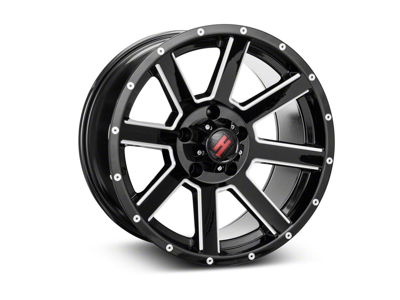Havok Off-Road H-107 Black Machined Wheel - 17X9 (07-18 Jeep Wrangler JK)