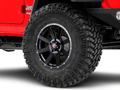 Havok Off-Road H-107 Matte Black Wheel - 17X9 (18-19 Jeep Wrangler JL)