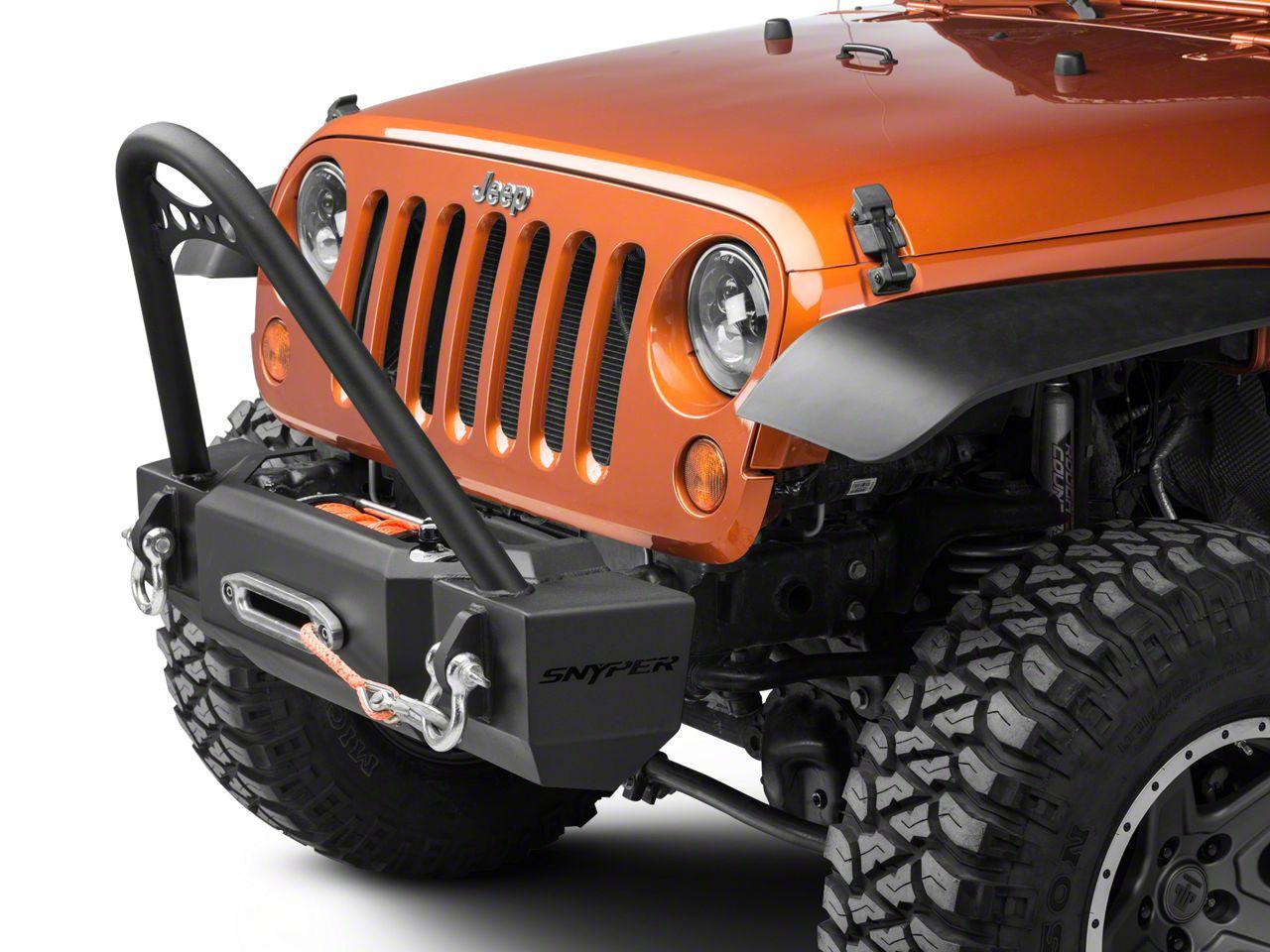 Snyper Scope Stubby Front Bumper w/ Stinger (07-18 Jeep Wrangler JK)