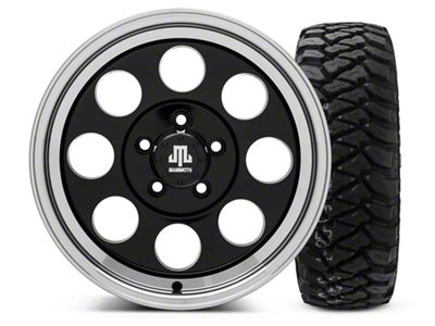 Mammoth 8 Black 16x8 Wheel & Mickey Thompson Baja MTZP3 285/75R16 Tire Kit (87-06 Jeep Wrangler YJ & TJ)