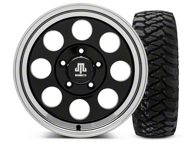 Mammoth 8 Black - 16x8 Wheel - and Mickey Thompson Baja MTZP3 Tire - 285/75R16 (07-18 Jeep Wrangler JK)