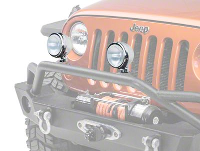 Rugged Ridge 5 in. Round HID Off-Road Fog Lights - Pair (87-18 Jeep Wrangler YJ, TJ & JK)