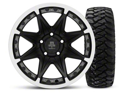 Mammoth Type 88 Black 16x8 Wheel & Mickey Thompson Baja MTZP3 285/75R16 Tire Kit (87-06 Jeep Wrangler YJ & TJ)