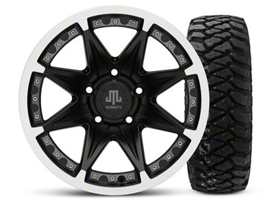 Mammoth Type 88 Black - 16x8 Wheel - and Mickey Thompson Baja MTZP3 Tire - 285/75R16 (07-18 Jeep Wrangler JK)