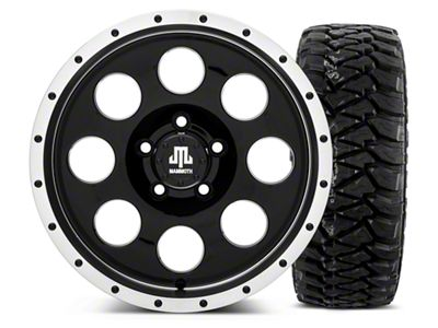 Mammoth 8 Beadlock Style Black 16x8 Wheel & Mickey Thompson Baja MTZP3 305/70R16 Tire Kit (87-06 Jeep Wrangler YJ & TJ)