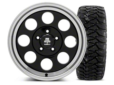Mammoth 8 Black 16x8 Wheel & Mickey Thompson Baja MTZP3 305/70R16 Tire Kit (87-06 Jeep Wrangler YJ & TJ)