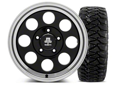 Mammoth 8 Black - 16x8 Wheel - and Mickey Thompson Baja MTZP3 Tire - 305/70R16 (07-18 Jeep Wrangler JK)